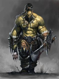 Orc band - Character design for Orcquest. , Loïc Muzy on ArtStation at www. - Orc band – Character design for Orcquest. , Loïc Muzy on ArtStation at www. Fantasy Races, High Fantasy, Fantasy Rpg, Medieval Fantasy, Fantasy Artwork, Orc Warrior, Fantasy Warrior, Dnd Characters, Fantasy Characters