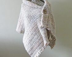 Easy Crochet Poncho PATTERN / Asymmetrical Poncho / Shawl ...