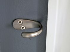 DIY - curtain tie back hooks for J's room - I have some of these already