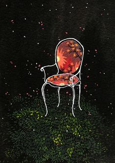 chair ORIGINAL PAINTING by beccastadtlander on Etsy
