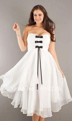 White party dresses for plus size women - http://pluslook.eu ...
