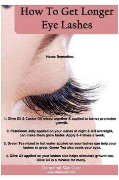 Get Long Eyelashes, How To Grow Eyelashes, Thicker Eyelashes, Longer Eyelashes, Fake Lashes, Long Natural Eyelashes, False Eyelashes, Lashes Grow, Natural Eyelash Growth