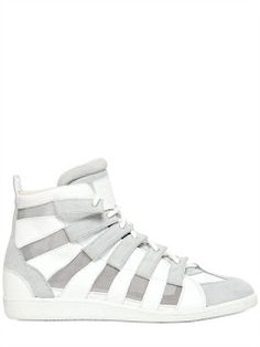 Maison Martin Margiela Suede, Mesh & Leather Sneakers