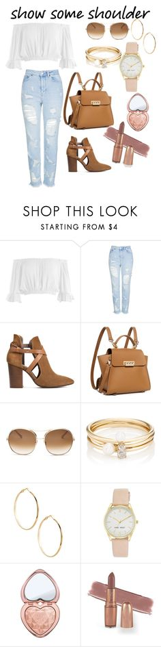 """""""Flash You👑"""" by fasimpson810 ❤ liked on Polyvore featuring Sans Souci, Topshop, H London, ZAC Zac Posen, Chloé, Loren Stewart, GUESS by Marciano, Nine West and Too Faced Cosmetics"""