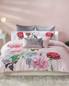 Shop designer duvet covers and sets at Horchow. Browse our elegant selection of duvet covers and sets in fine fabrics. Blush Pink Comforter, Twin Comforter Sets, Duvet Sets, Duvet Cover Sets, Floral Bedding, Pillow Covers, King Duvet Set, King Comforter, Queen Duvet