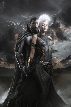 Black Panther Storm, Black Panther Art, Black Panther Marvel, Black Batman, Comic Book Characters, Comic Books, Villain Characters, Storm Marvel, Black King And Queen