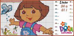 Dora pattern by Dinha Ponto Cruz
