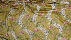 """110"""" Wide Floral Satin Brocade Upholstery Drapery Fabric Overview"""