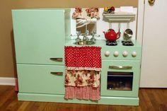 turquoise play kitchen