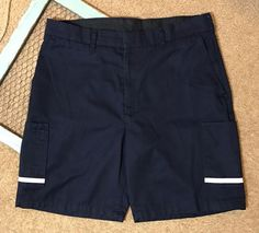 FedEx Mens Womens Size 38R 095 Shorts Blue Reflective Uniform Work Employee    eBay