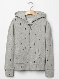 GapKids x ED bolt zip hoodie Product Image
