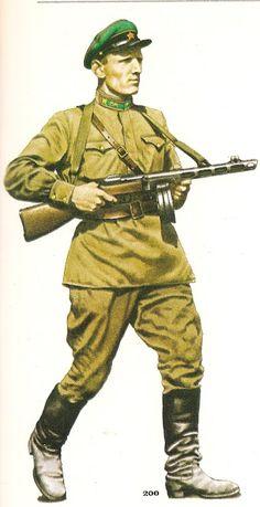 nº 200.- Red Army - Lieutenant.- Frontier Troops , 1942..jpg