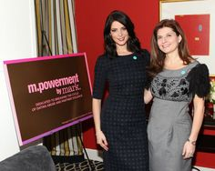 mark. Brand Ambassador Ashley Greene and mark. Global President Meg Lerner on Capitol Hill on behalf of the m.powerment by mark campaign*  to support NO MORE Day — in Washington, DC.  *Managed by the Avon Foundation for Women