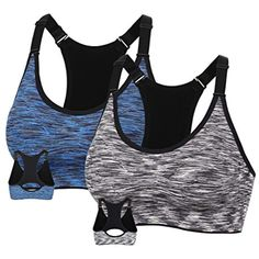 231a852ffd MotoRun Women s Seamless Sports Bra Workout Yoga Bras - Full Coverage  Racerback    Click image