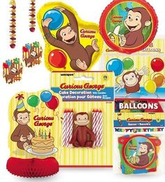 Curious George Party Decoration Kit. Complete Decoration Kit for your Curious George Party. At a budget-friendly Price. Makes your party planning a snap. High Quality Products. Cutest Monkey Theme.