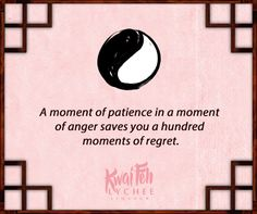 Be patient. #wisdom #yinyang #kwaifeh