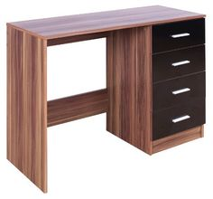 High Gloss Ottawa Caspian Black / Walnut Dressing Table Only by Rightdeals Uk, http://www.amazon.co.uk/dp/B009TWRSY6/ref=cm_sw_r_pi_dp_KuElsb1H7XP2P