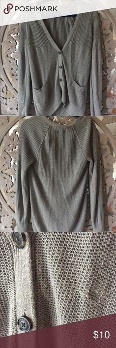 American Eagle Cardigan Long, grey, button up cardigan from American Eagle. Minor pulls, barely noticeable. Very soft & warm. American Eagle Outfitters Sweaters Cardigans