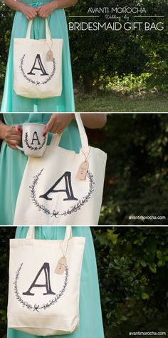 DIY Bridesmaid Gift Bag / Wedding Ideas / Regalo para las damas de honor. Sharpie