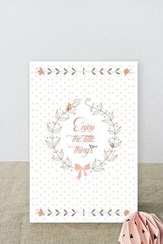 """Carte printanière """" ENJOY THE LITTLE THINGS"""" : Cartes par suite-creative-babies"""