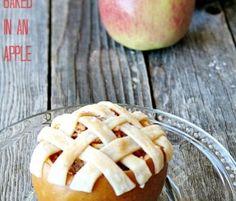 skinny wednesday ~ {apple pie baked in an apple}