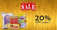 Shahi India brings you the Massive Sale   20% Off on all Grocery products  Shop Now -: www.shahiindia.com.au  offers excludes on non grocery products.  Online offer valid till 30th April 2015  *Terms & Condition Apply.