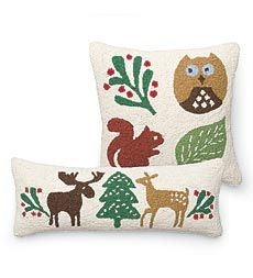 Woodland Wonder Hand-Guided Hooked Pillows