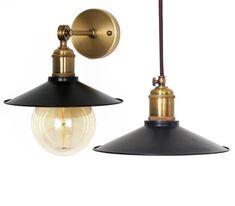 $95 Handmade steel Pendant Light Black Industrial Pendant Light Fixture for bar, pub Rustic vintage Spun Cone Spun pendant lighting