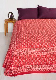 Hashtag Rest Blanket by Karma Living - Red, Boho, Better, White