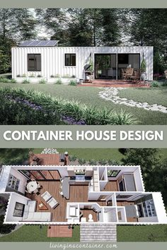 Tiny House Cabin, Tiny House Living, Tiny House Plans, House Floor Plans, Shipping Container Home Designs, Container House Design, Small House Design, Shipping Containers, Shipping Container Interior