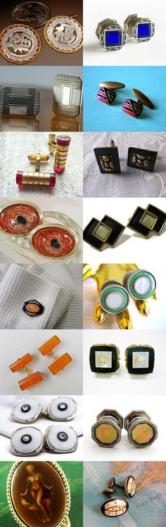 Art Deco Cufflinks for Father's Day by PATRICIA GOODSPEED on Etsy--Pinned with TreasuryPin.com