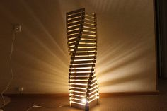 Drawing of the Lamp for woodworking DIY  night light  vector