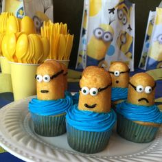Do your kids love Minions? Mine do. Actually, our whole family can't get enough of those silly little yellow dudes, so over the weekend, we threw a Minions-themed bash -- which turned out to be a total hit!  I remember watching Despicable Me with my kids for the first time and we were totally cracking up over the Minions and their antics.Guess what?The Minions have their own movie now!  See them in theaters July 10th!  We set up a fun party (we meant to have a backyard shindig, but the…