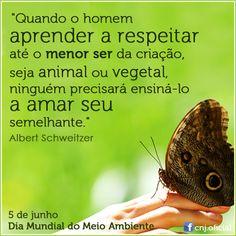 5 de junho - Dia Mundial do Meio Ambiente. #Sustentabilidade #SouSustentável