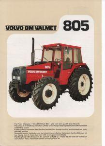 Volvo BM Valmet Tractor 805  Brochure