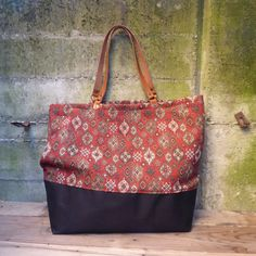 Big tote bag, grand sac cabas, outsize bag, weekend bag, Hand made VINTAGE…