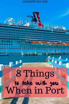 What do you take with you when you get off the ship in a cruise port? Let us know what you take with you. Here is what we recommend. #cruise #cruisefever #port #essentials #cruisetips