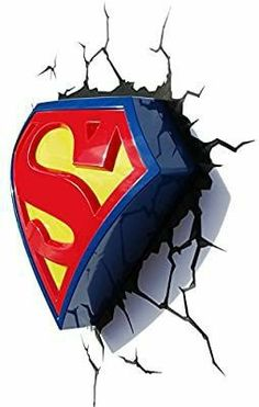 Logo Superman, Superman Tattoos, Superman Symbol, 3d Deco Light, 3d Light, Wallpaper Do Superman, Tableau Pop Art, Decorative Night Lights, Lighting Logo