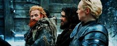 This hole gif is made of pure sapphires xD her face | Brienne and Tormund | 3/3