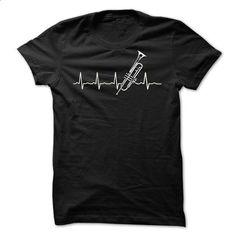 Trumpet heart beat! - custom tee shirts #teeshirt #hoodie