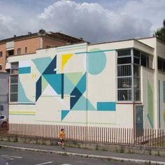 Geometric murals by Neli0