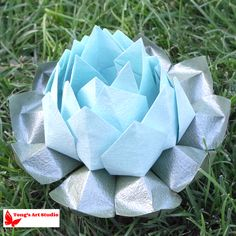 Modular Origami Lotus Flower - Video Tutorial | Flores de cinta ... | 236x236