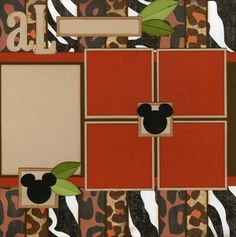 Great page - easy to add pics or embelishments! Animal Kingdom  scrapbook page , photos - Bing Images