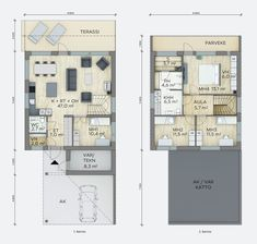 Juno - Lammi Kivitalo Sims, Floor Plans, Houses, Inspirational, Flooring, How To Plan, Heel, Homes, Wood Flooring