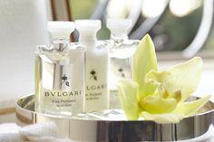 BVLGARI White Tea toiletry products - Shangri-La Hotel, Paris