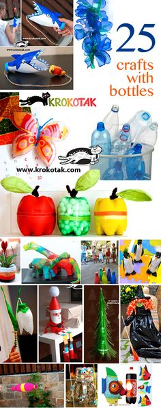 25 crafts with plastic bottles