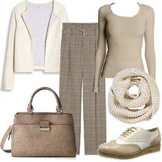 Bella in beige  outfit donna Trendy per tutti i giorni  628a91c202e3