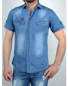 Ανδρικά Ρούχα Button Down Shirt, Men Casual, Summer, Mens Tops, Blue, Shirts, Fashion, Moda, Dress Shirt