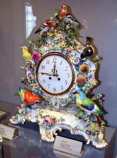 Meissen Prcelain Clock By J. J. Kandler  c.1744