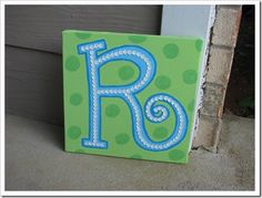 painted canvas with sequins